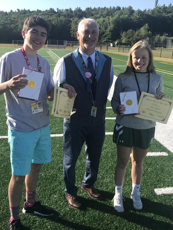 Jack Tobia on the left, Mr.Uminski middle and Samantha Gastonguay