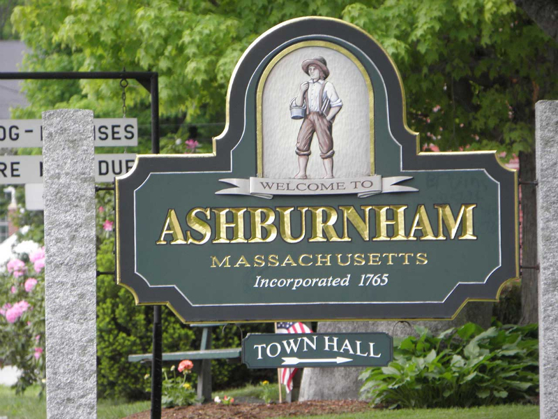 Entrance sign for Ashburnham