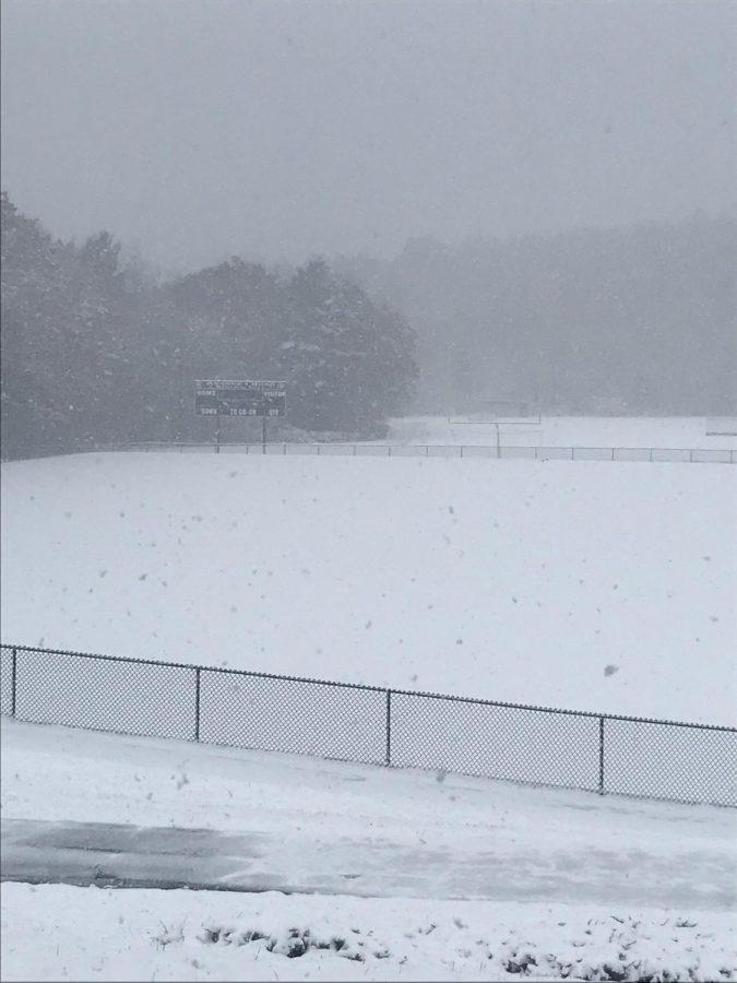 Snowy Hurd Field on October 30th