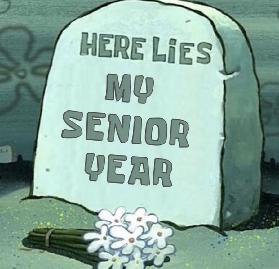 VIA Twitter - here lies my senior year