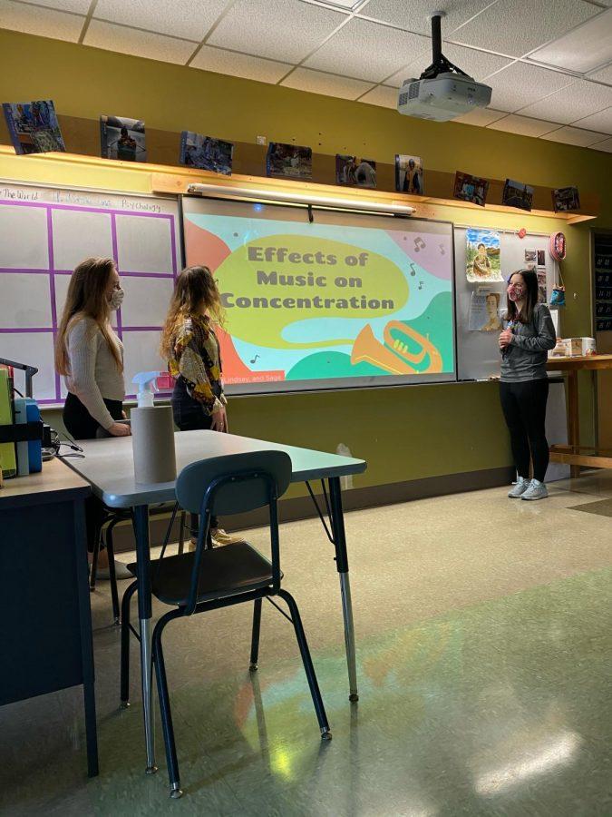 Psychology students perform experiments