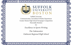 Oakmont Sports Writers Awarded