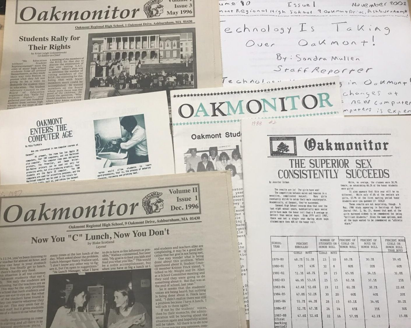 Oakmonitor of years gone by